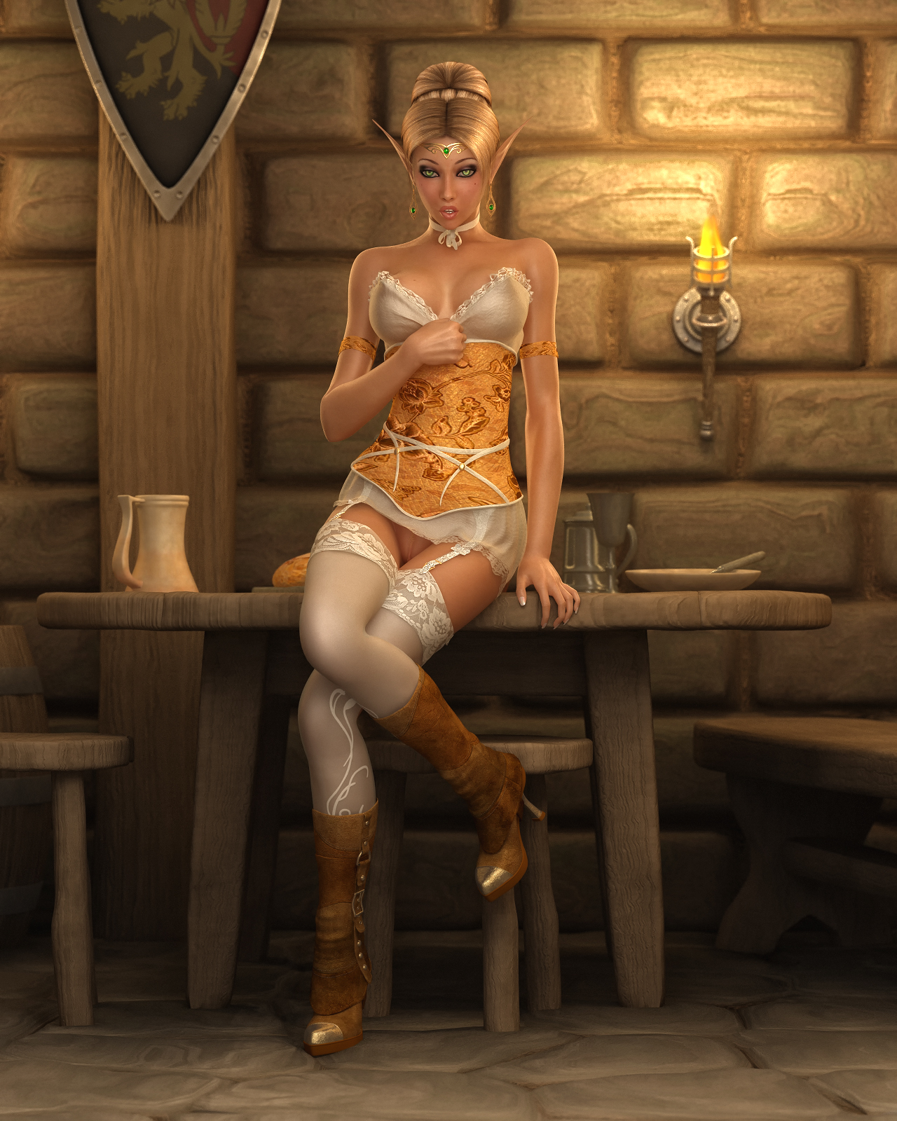 Medieval fantasy world elves hentai erotic pictures