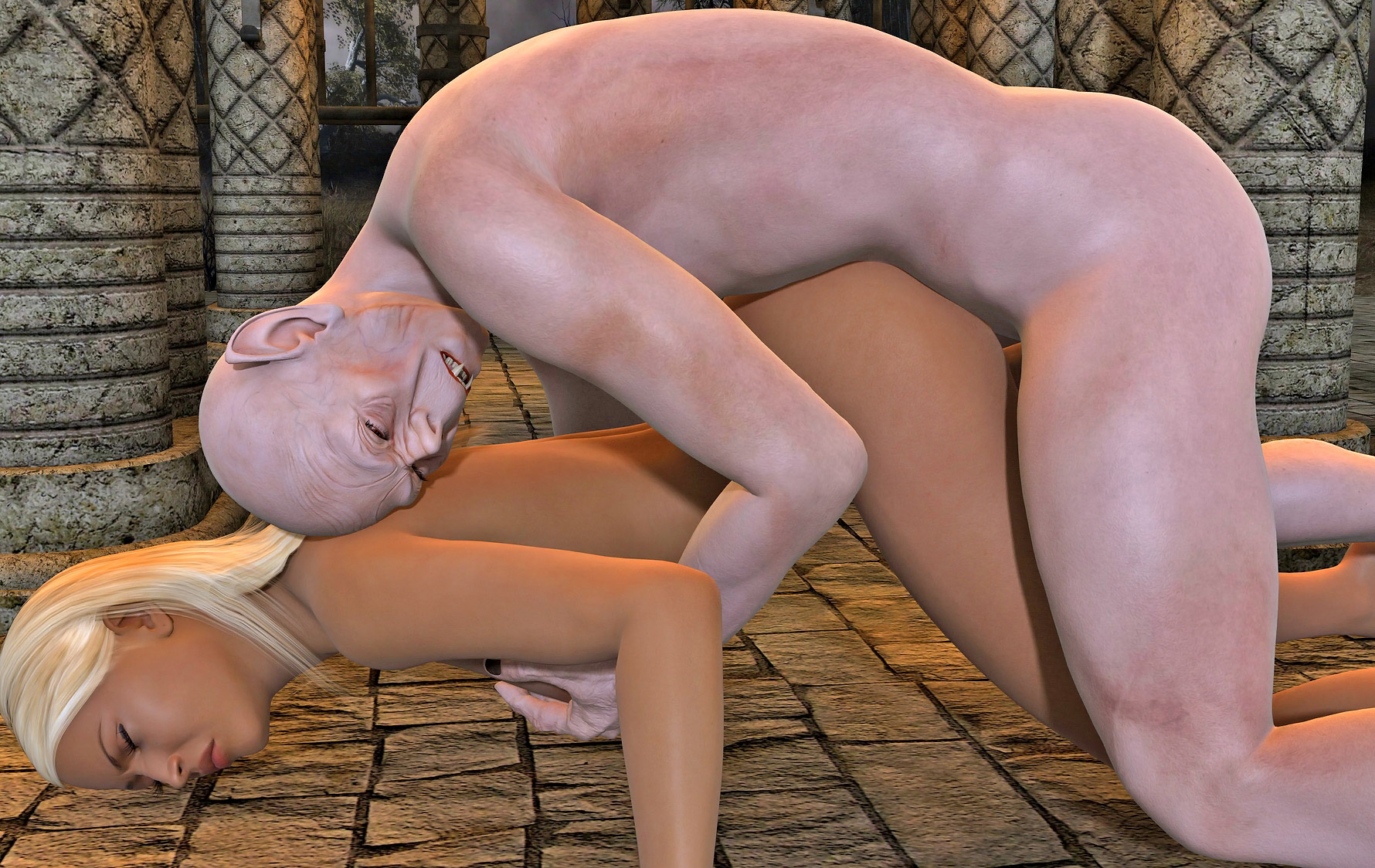 Sexy naked female knight fucked by monster softcore video