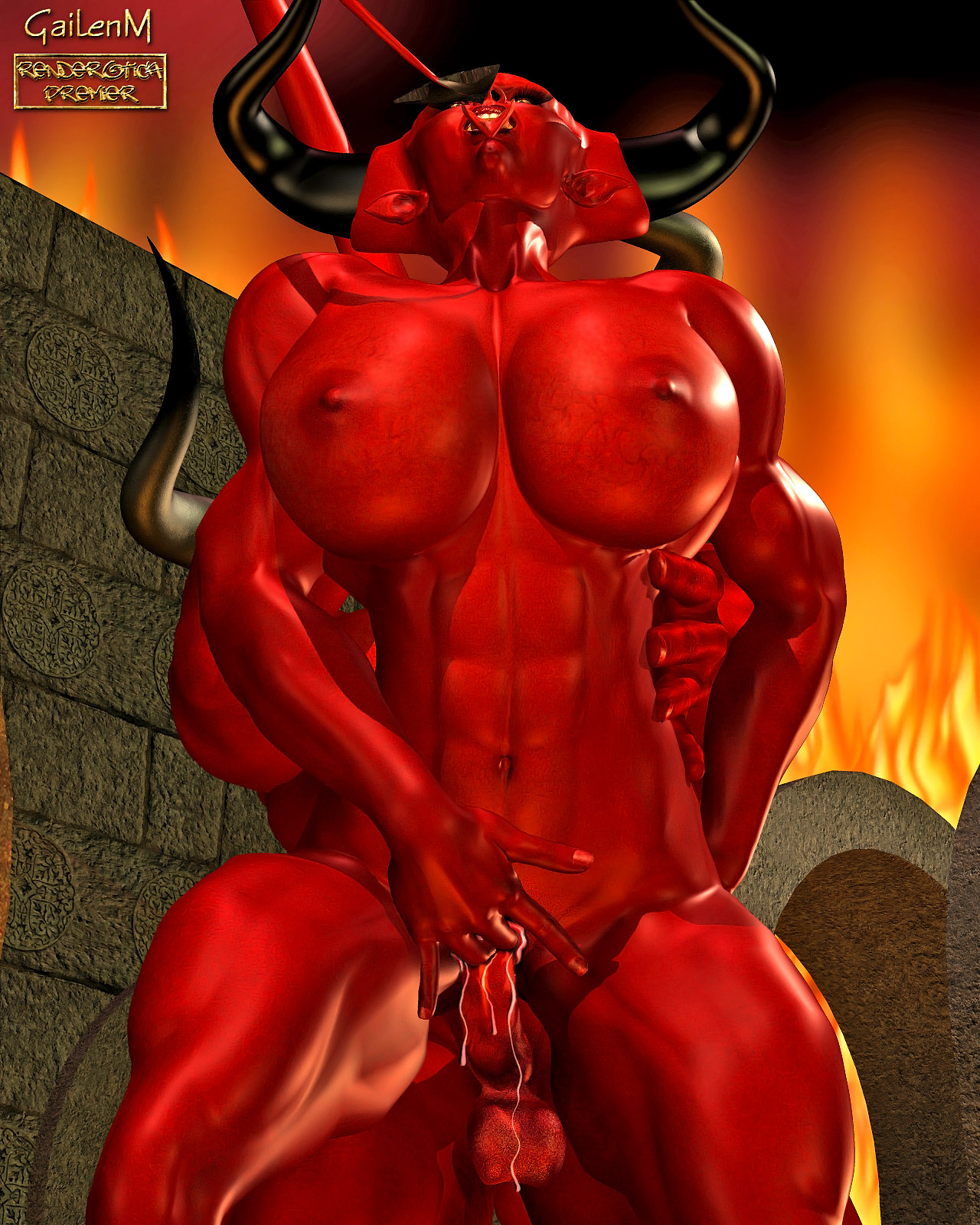 devil having sex with a naked girl