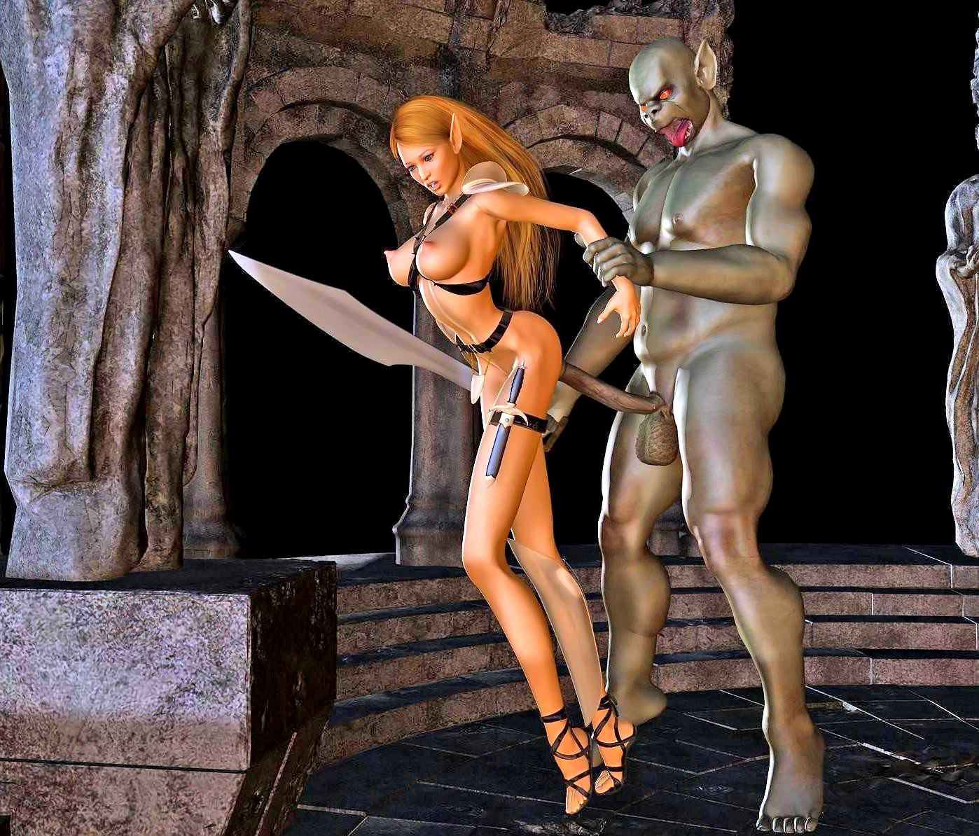 3d animation warrior nude woman adult pictures
