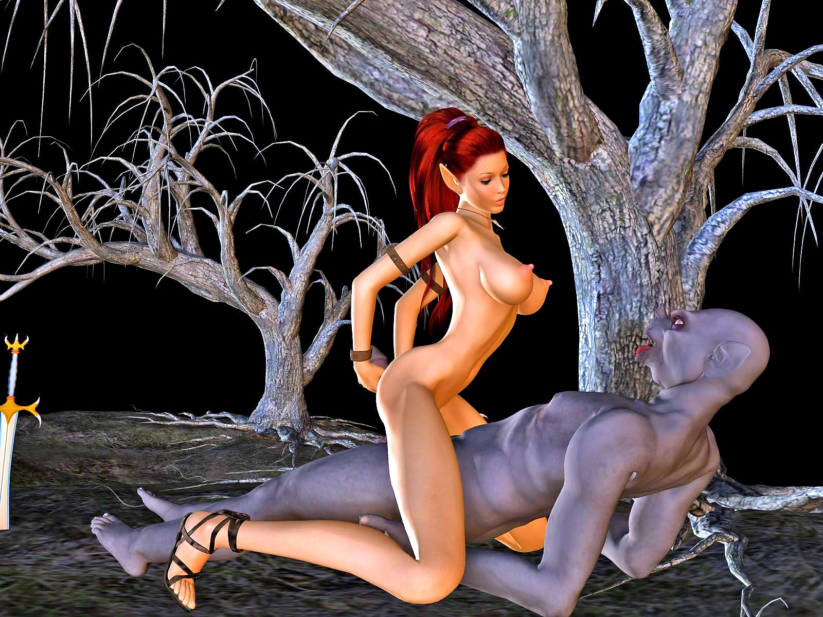 Anime warrior girl 3d hentai cartoon pic