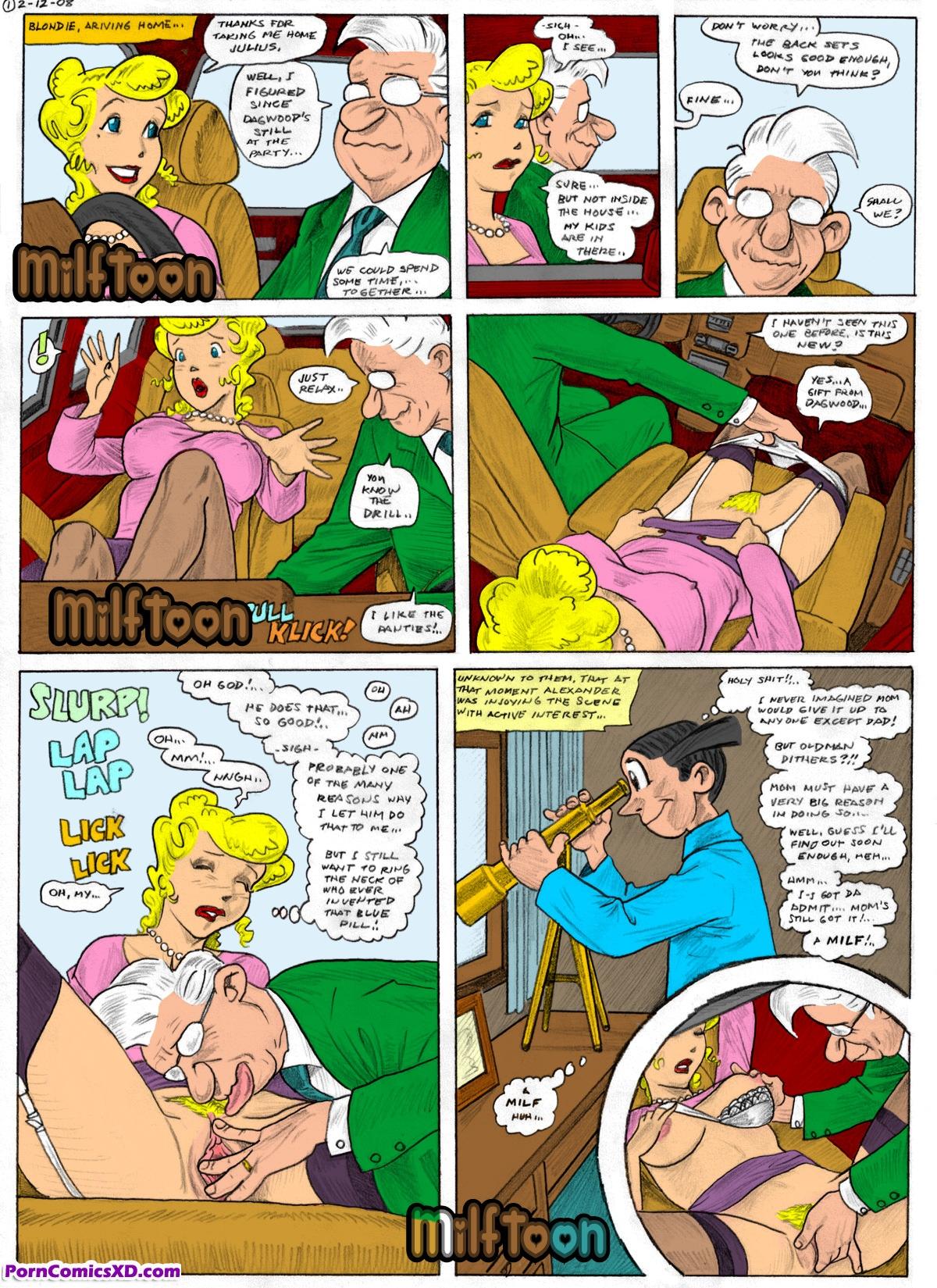 Порно комиксы blondie