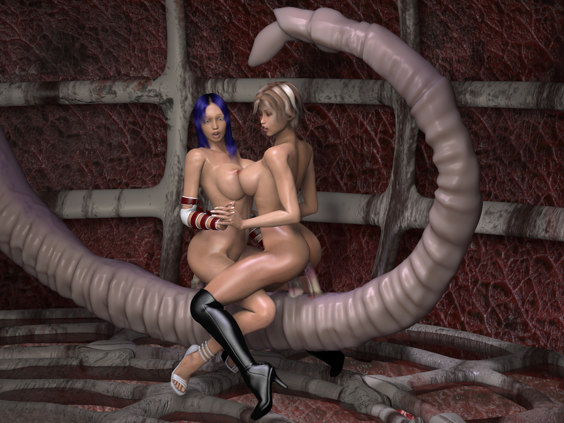 Fantasy sex monsters pleasuring girls porn photo