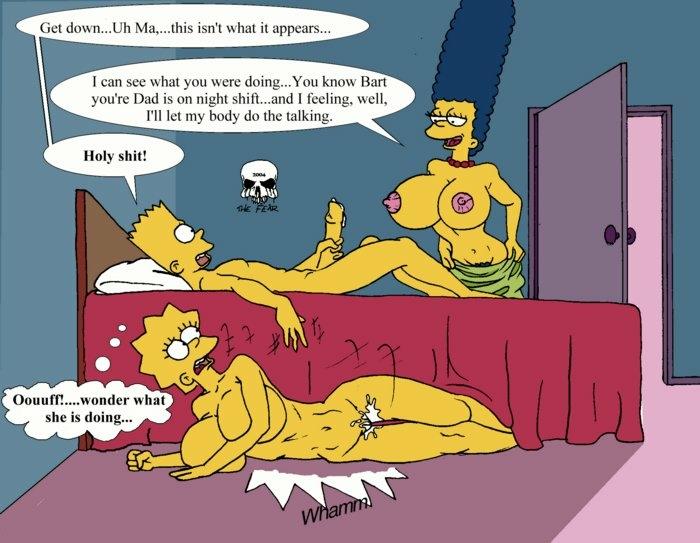 porn Bart cartoon marge and simpson