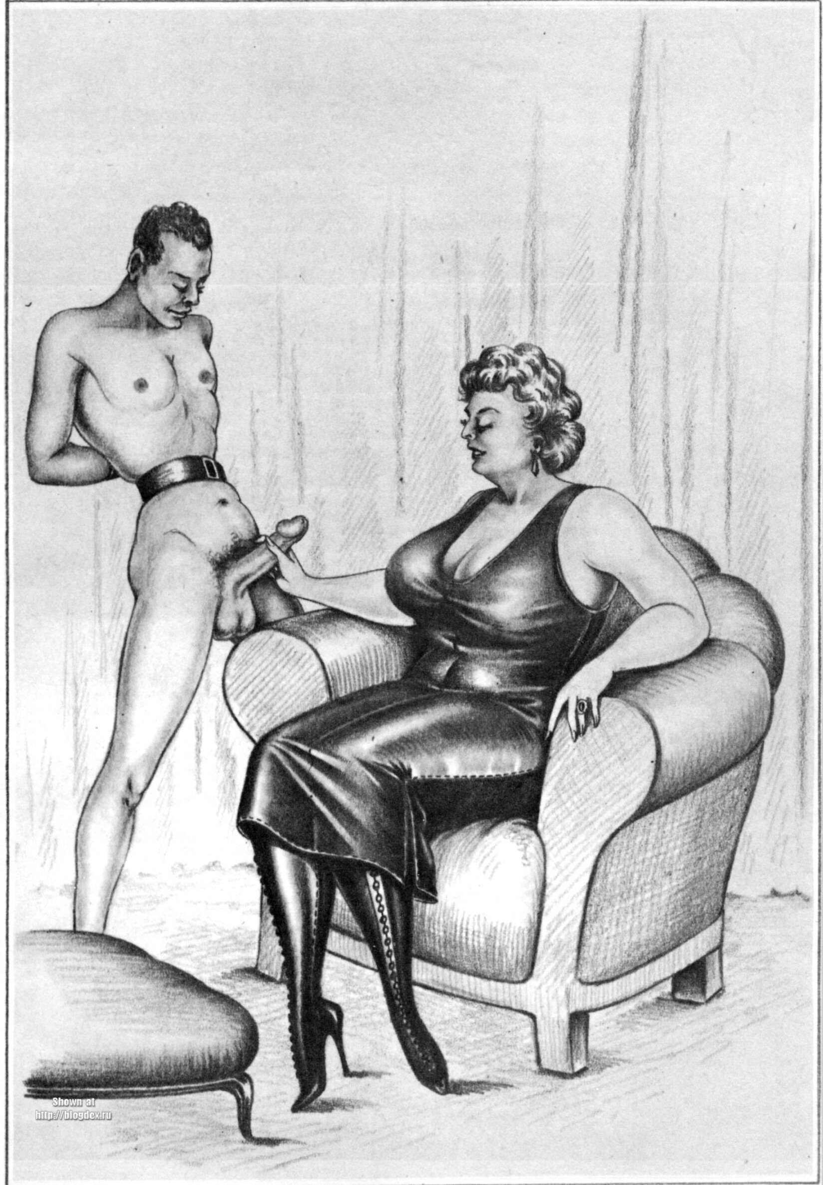 Nazi bdsm drawings vintage