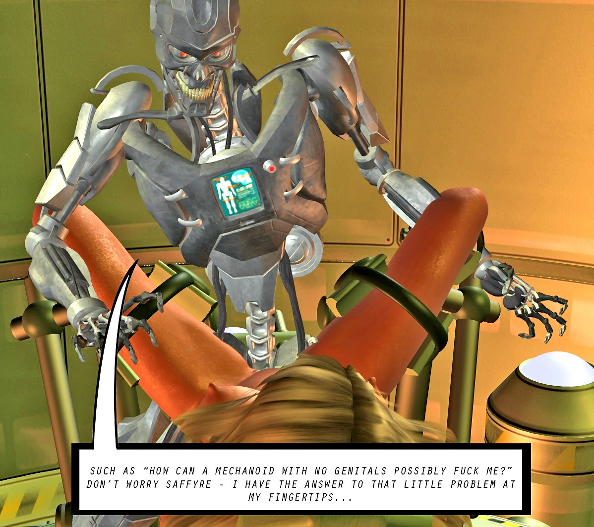 Gril fucking a moster robot xxx download