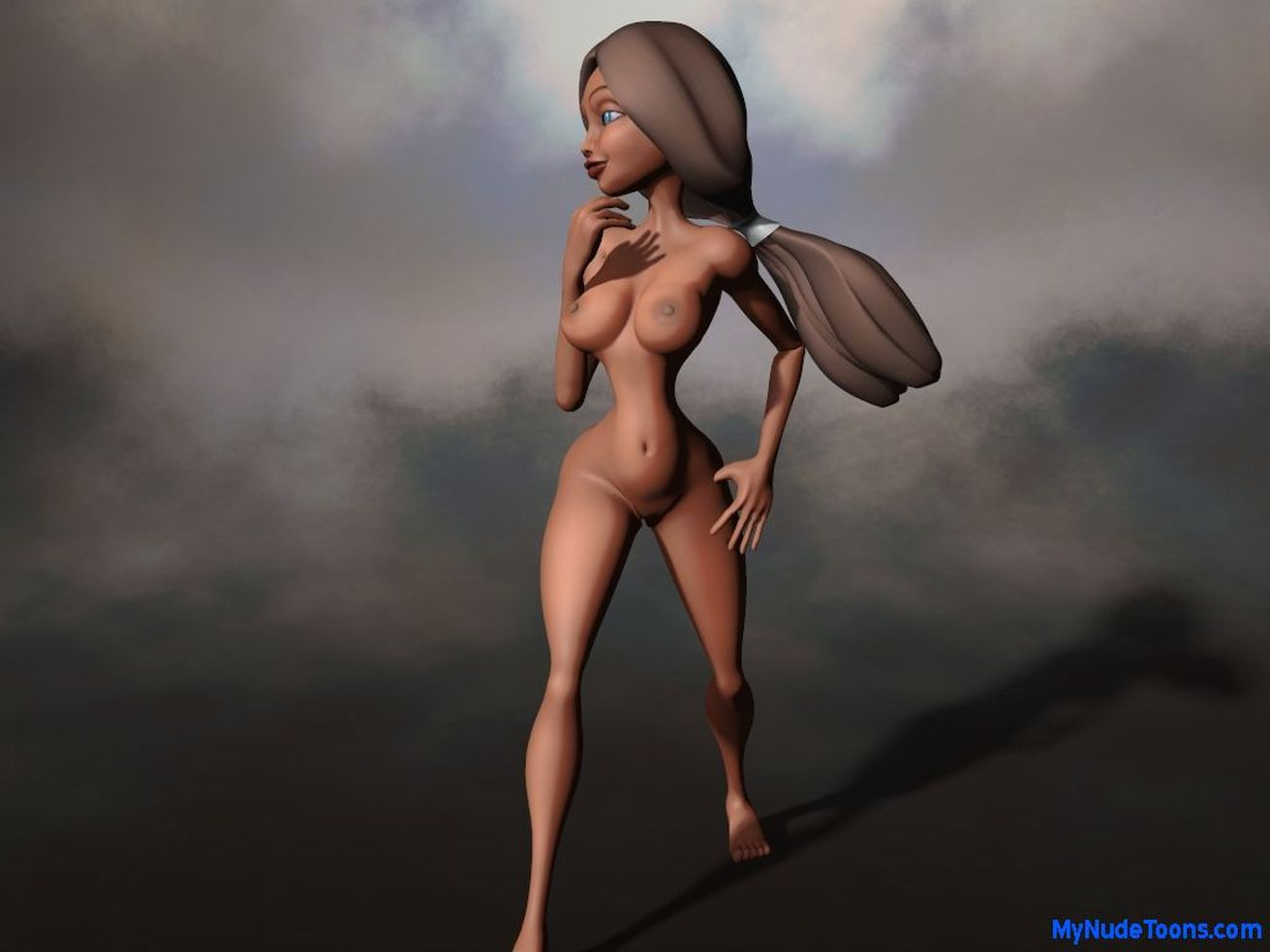 Nude world:hot toon animations sexy lady