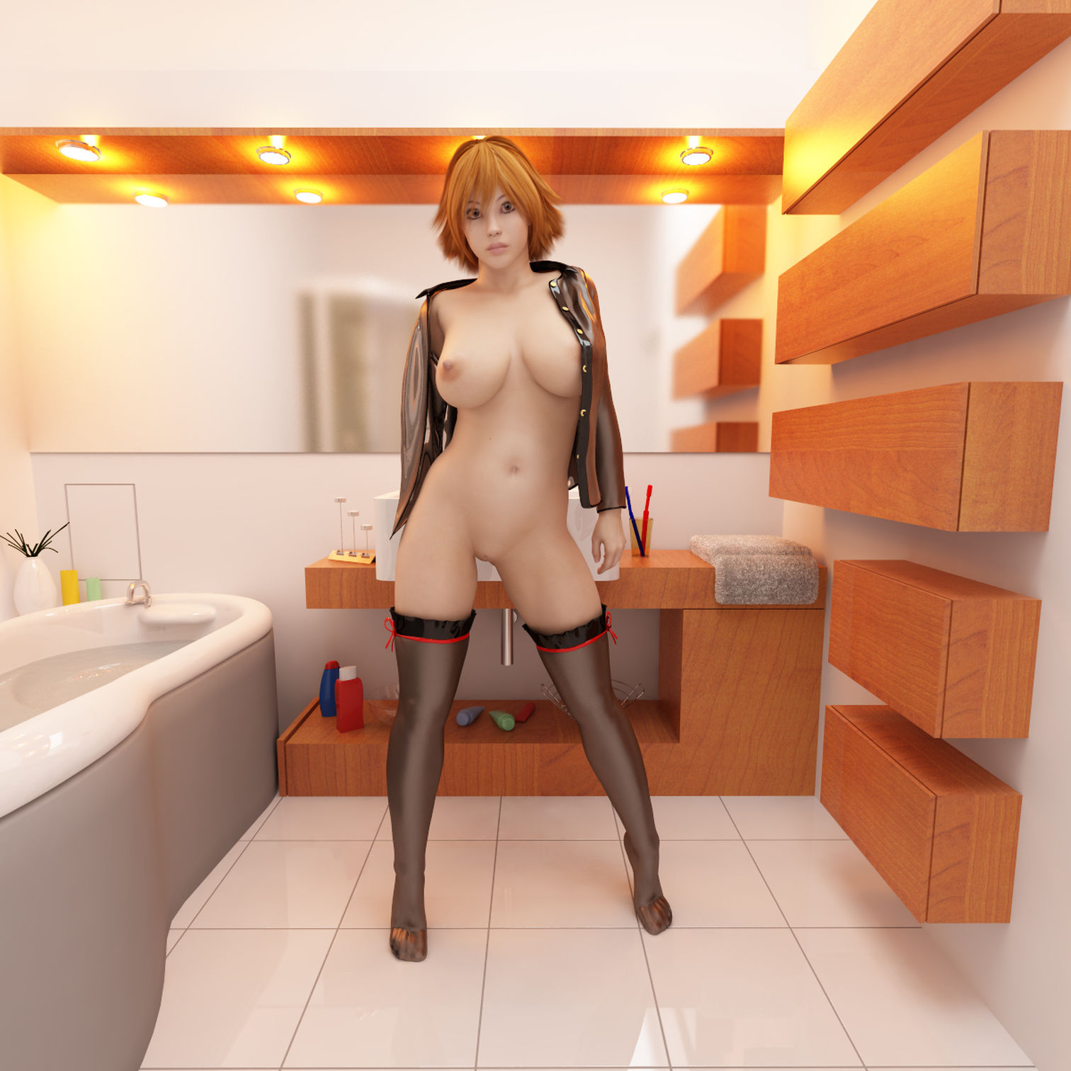 Sexy 3d hentai girl model wallpaper erotic videos