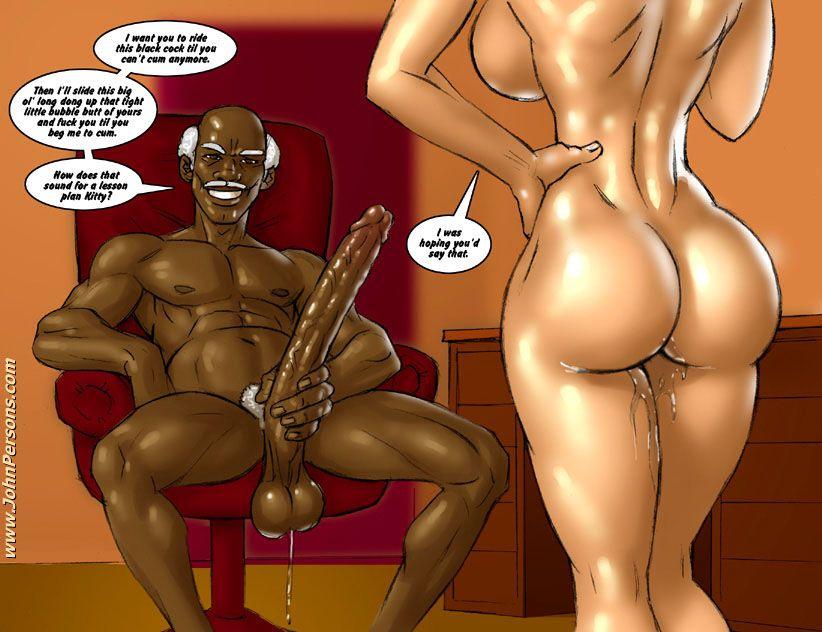 Cartoon booty porn comics Big black