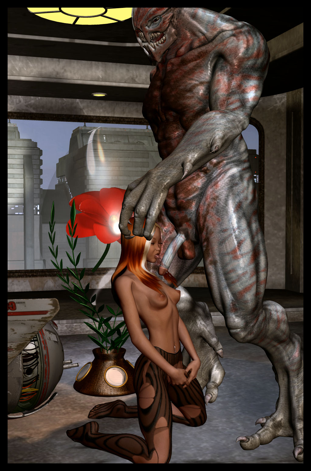 3d fantasy creatures having sex with human  erotic clips