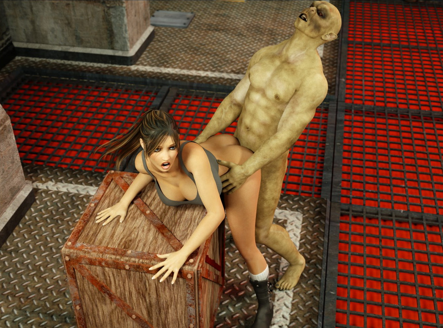 Lara croft gets fucked by moster wolf hentia clips