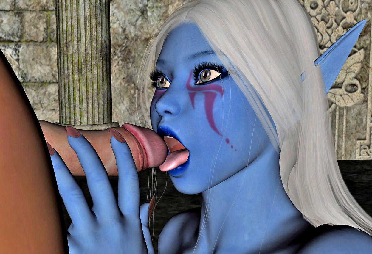 Fantasy monsters sucking human male cocks porn image
