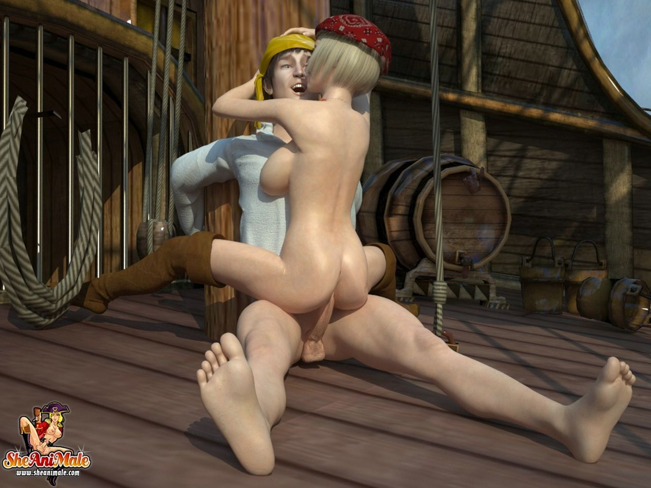 Pirates girl cartoon porn pic naked image