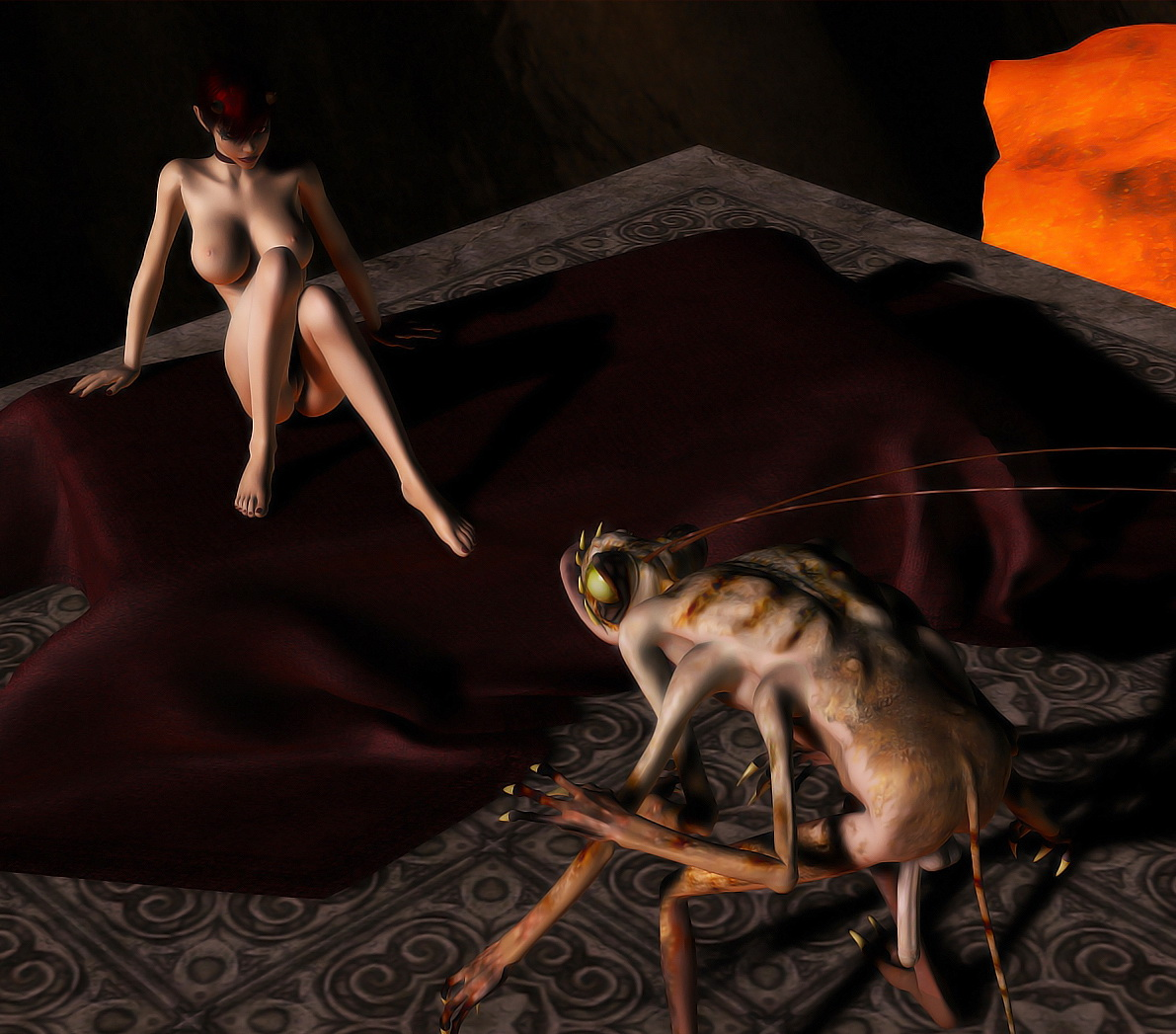 Insect girl sex fantasy -incest erotic films