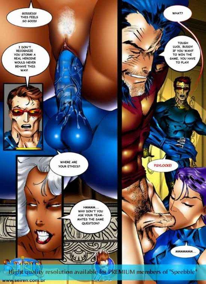 Люди x порно комиксы