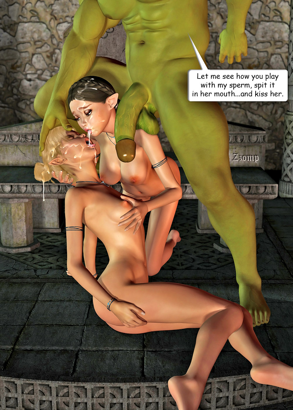 Orc fucks dark elf porn hentay video