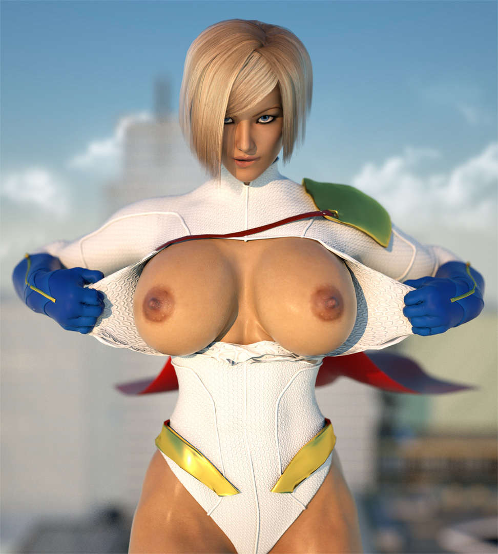 Powergirl 3d boobs porn video erotica pic
