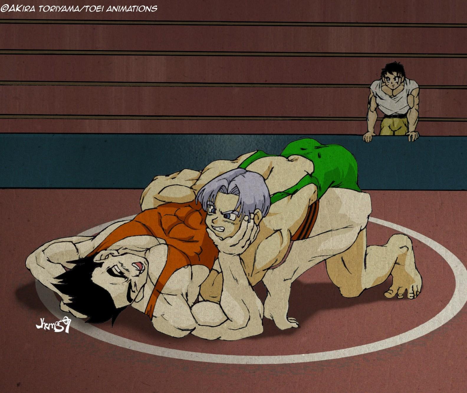 Anime wrestling nude hentai video