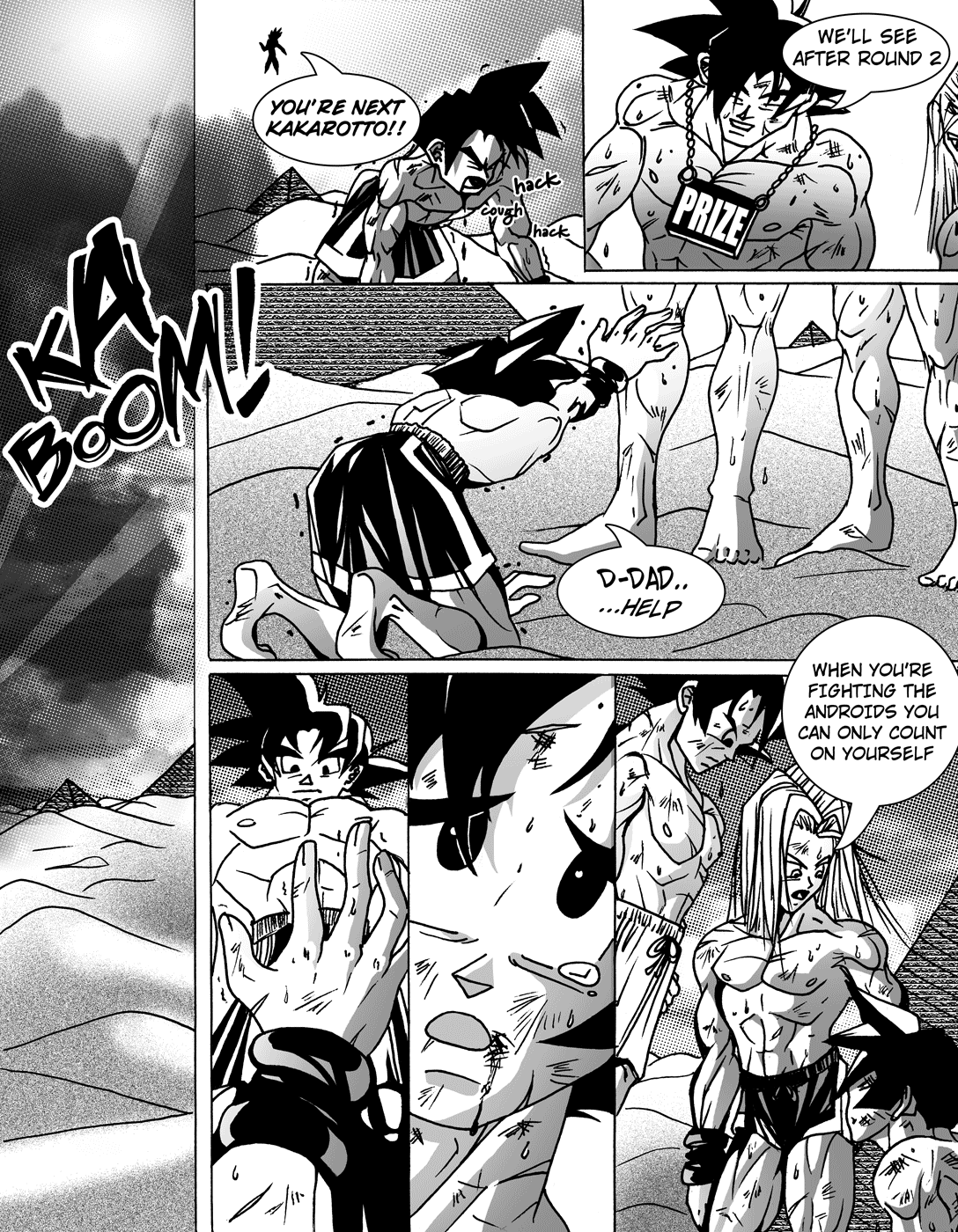 naked Dbz comic