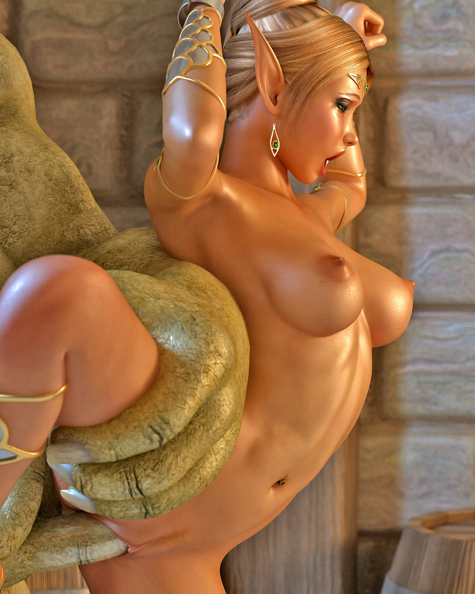 Hentai blonde elf fucked by monsters erotic photos