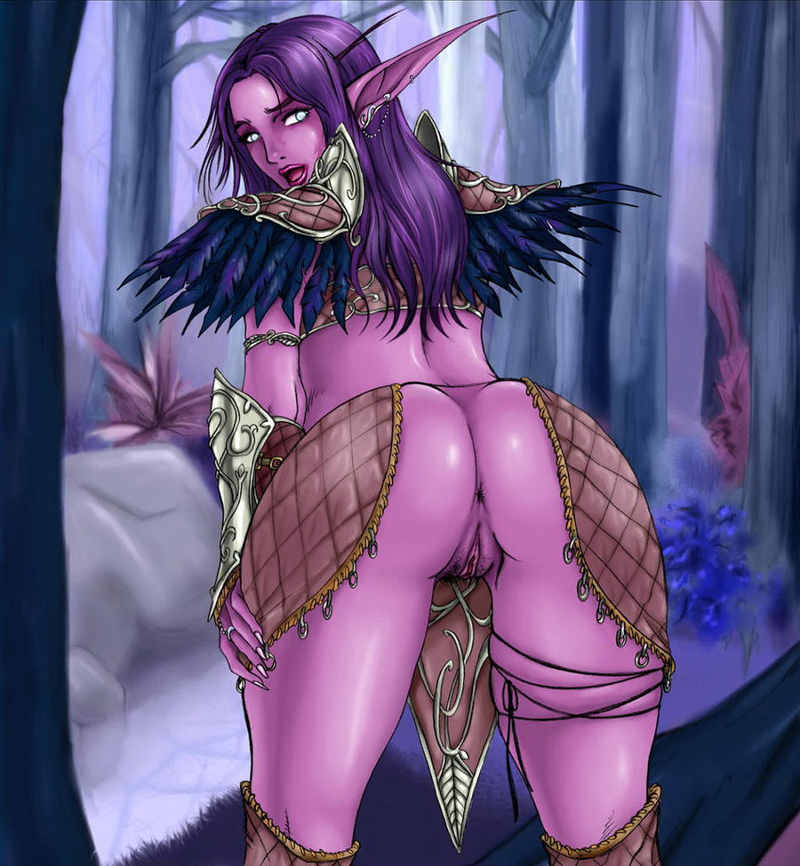 Night elves hentai erotic images