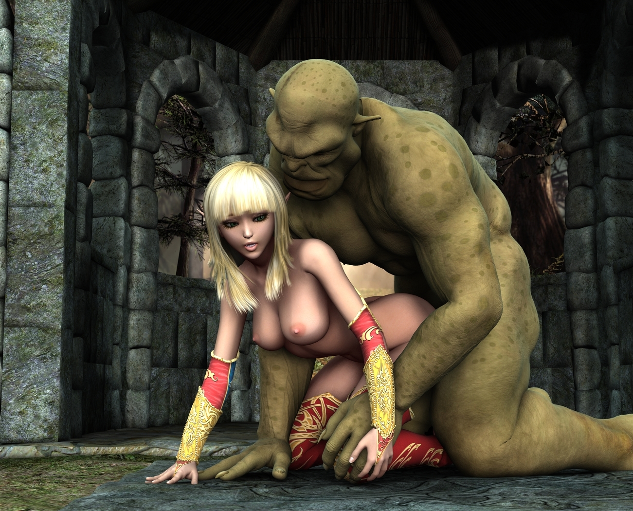 3d elf fucked by monster porn video