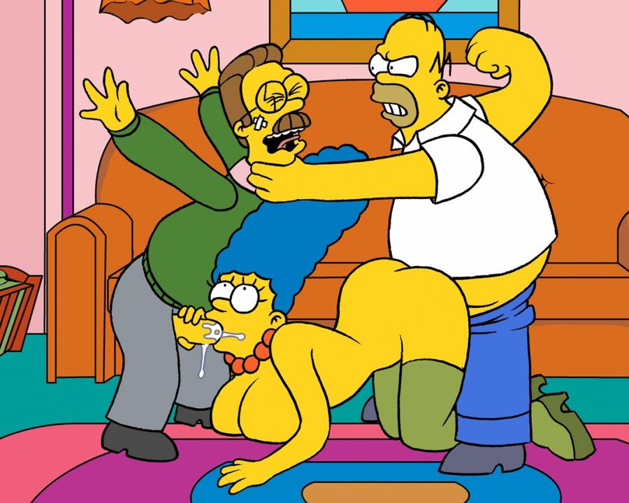 Порно симпсонов с фландерсом