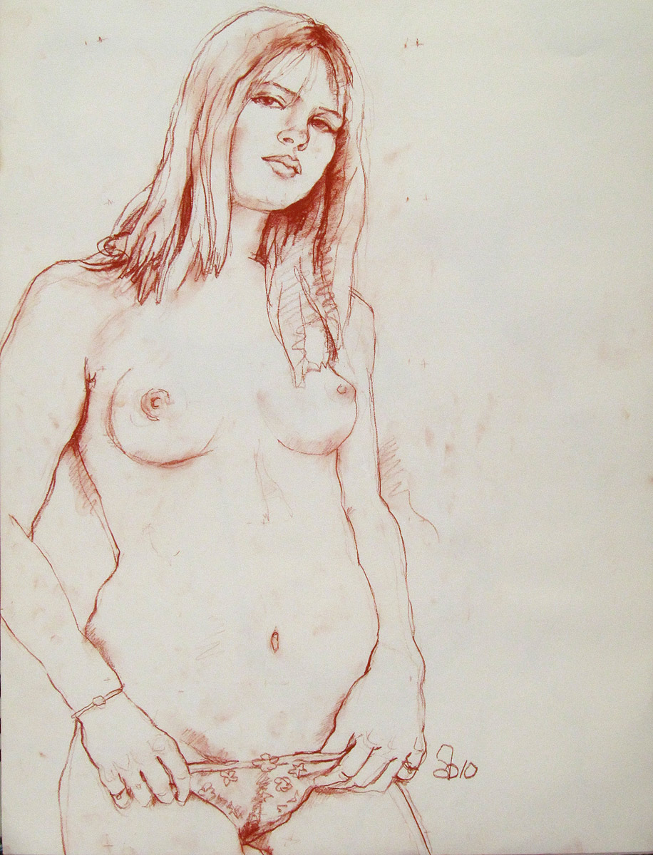 Line drawing of human erotic nude movie
