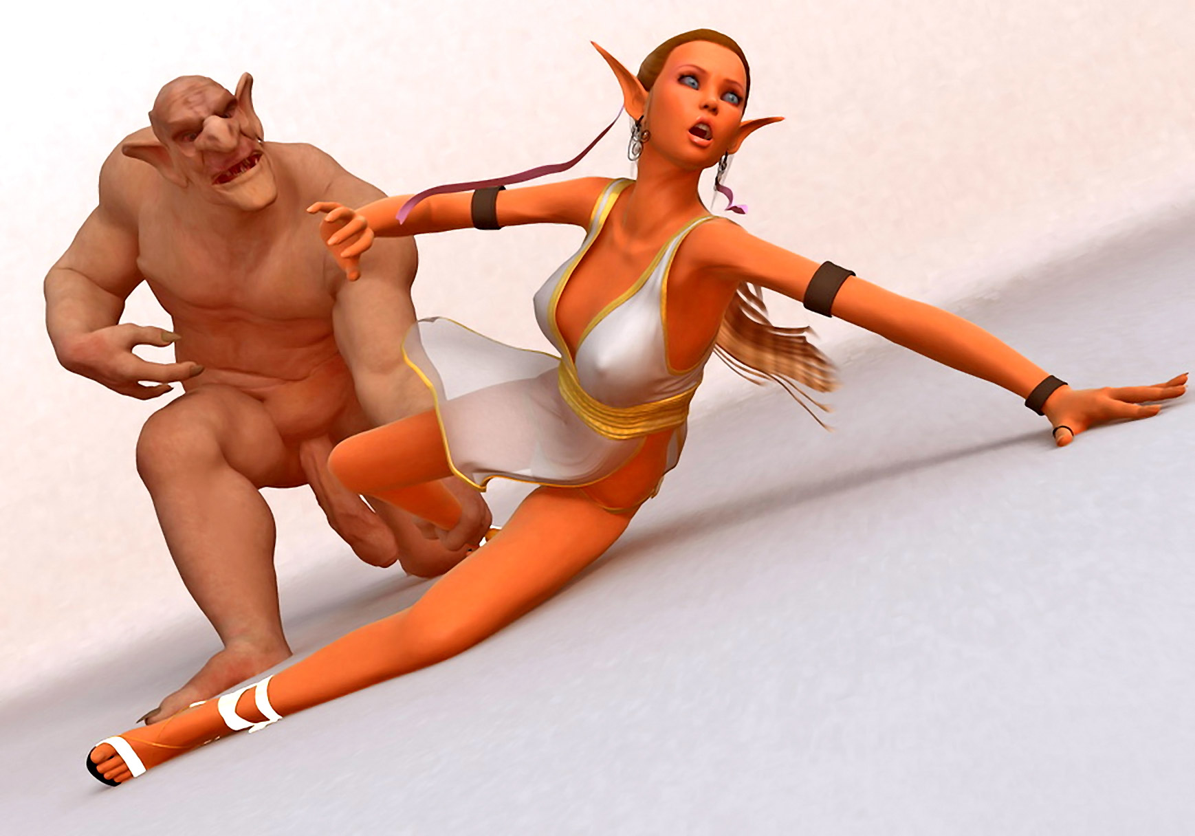 Cartoon wood elf caught by troll porn erotica video