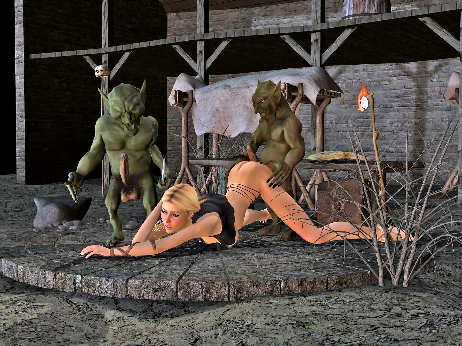 Cartoon porn with monsters and goblins sexual photo