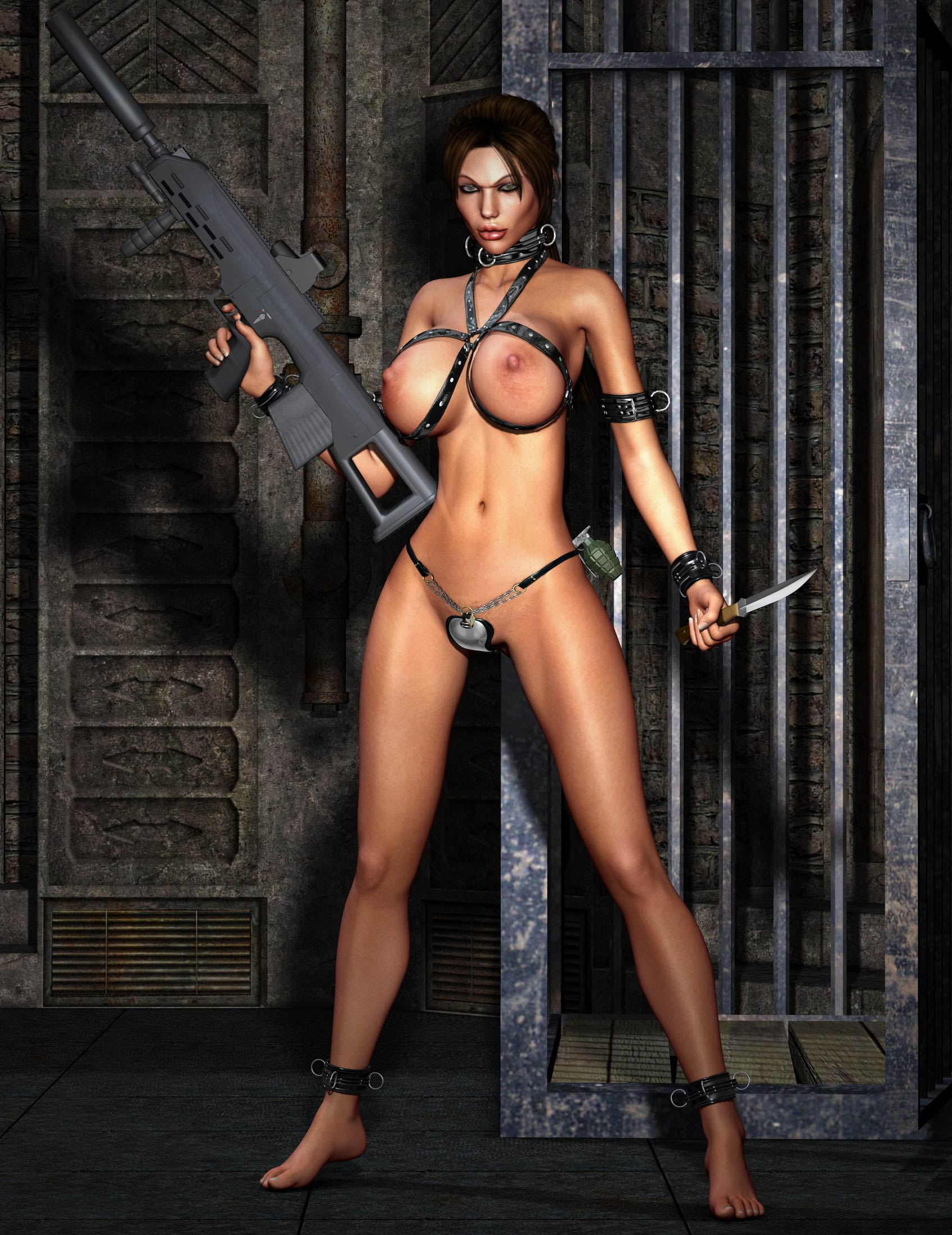 Lara croft fuly naked xxx clip
