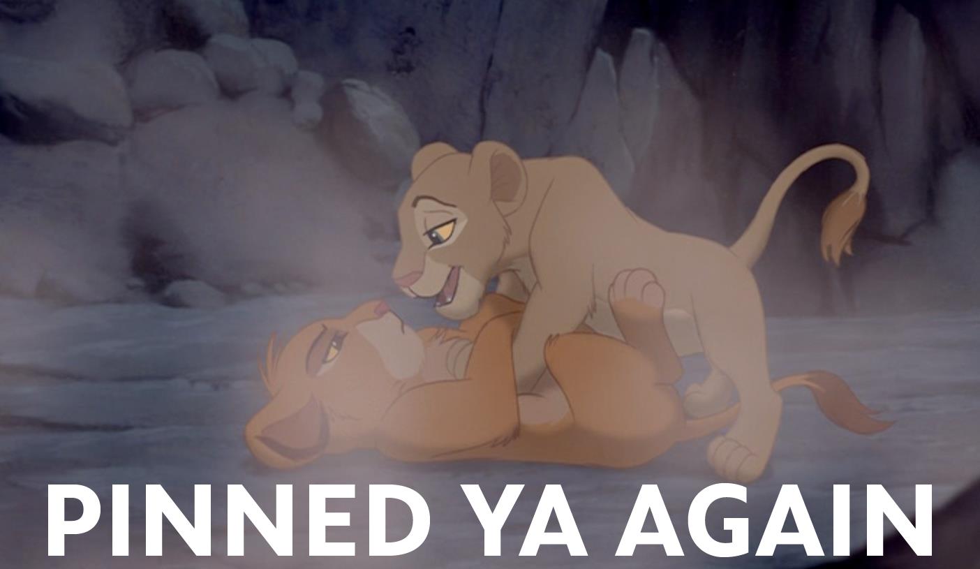Lion king pussy fucks thumbs