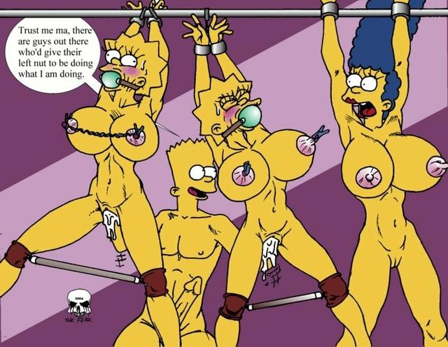 Lisa simpson and marge simpson gangbang