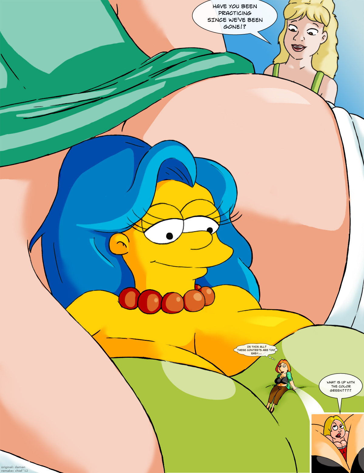 simpsons family guy nackt