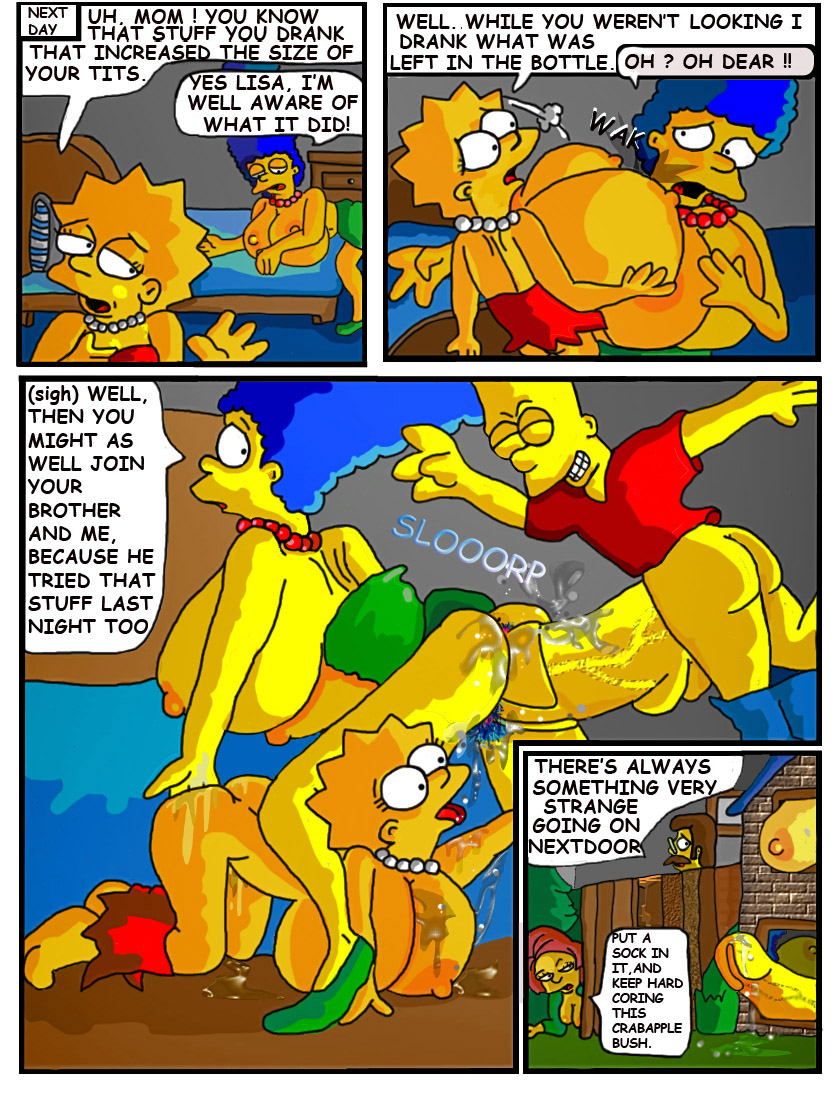 marge Bart cartoon porn simpson and