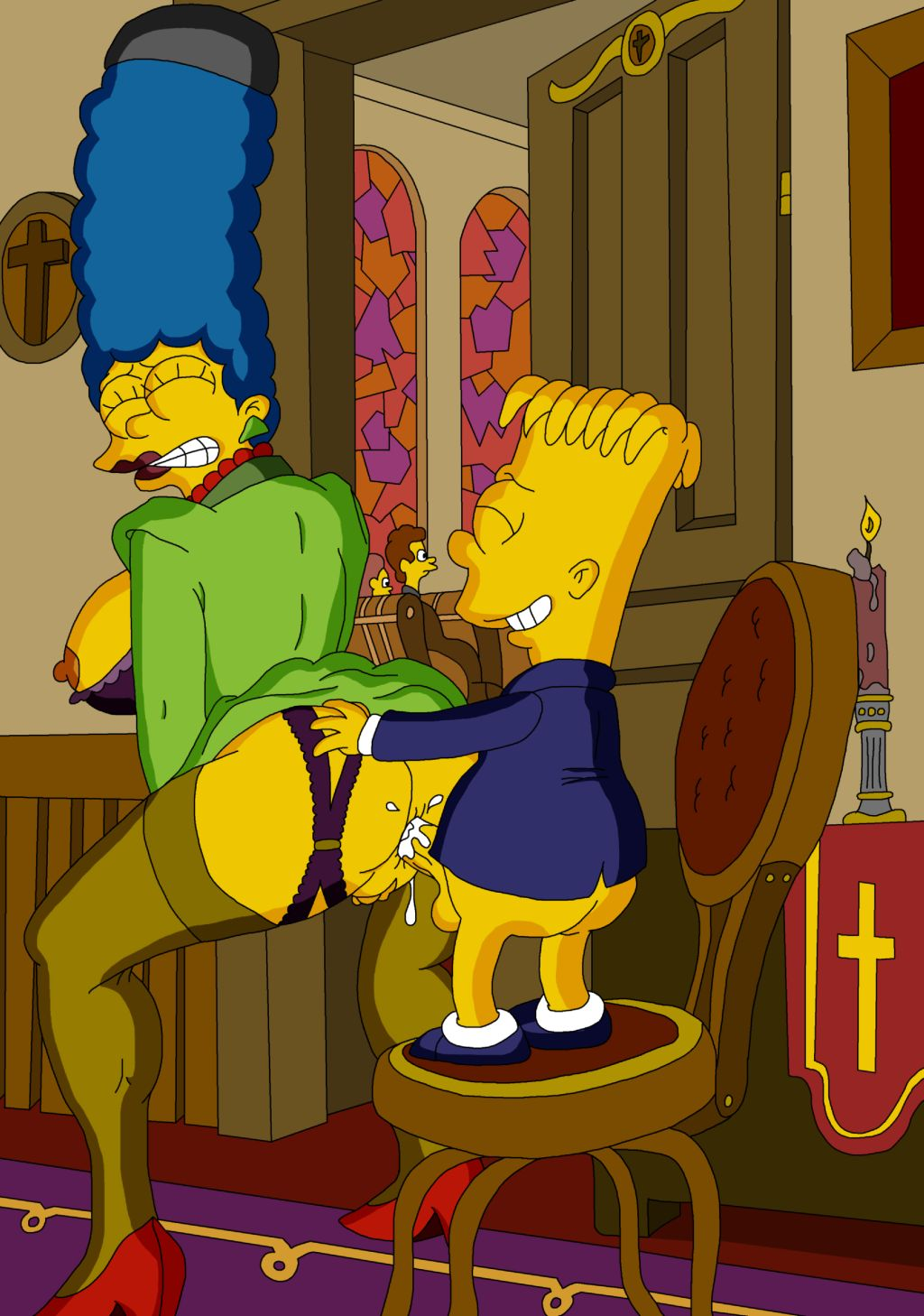 Marge simpson and bart having sex variant