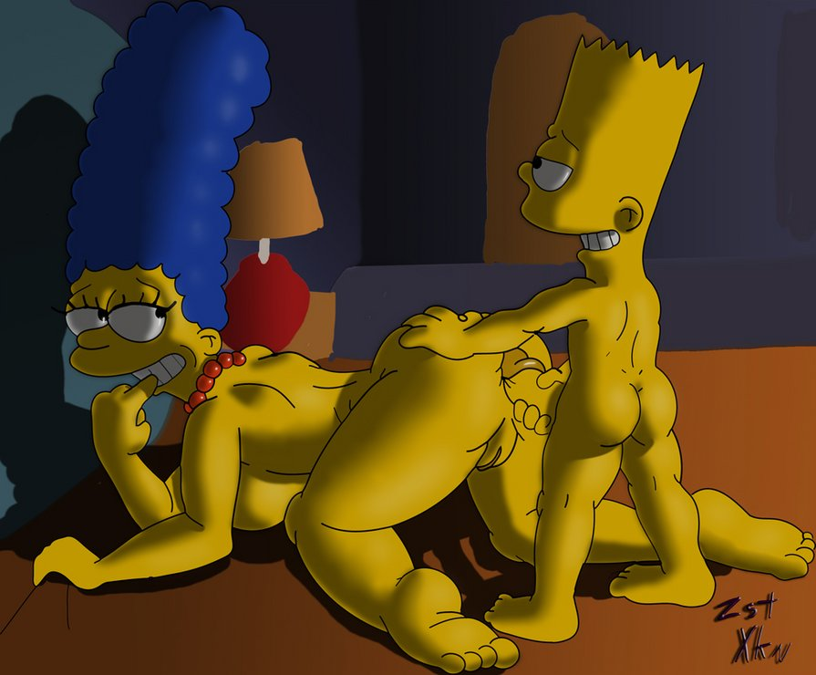 The simpsons marge and bart porn above
