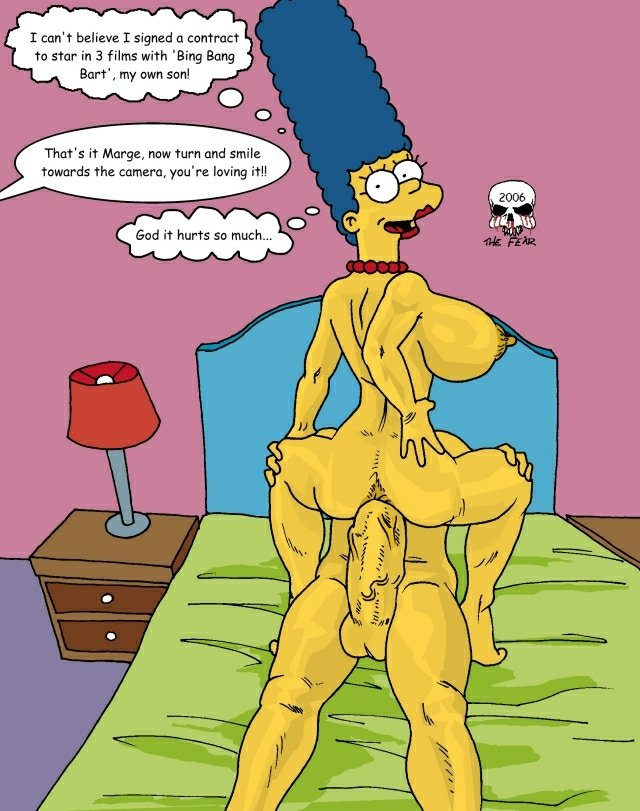 marge and bart simpson porn simpsons cartoon picture large marge simpson bart from heroes cartoonsbank