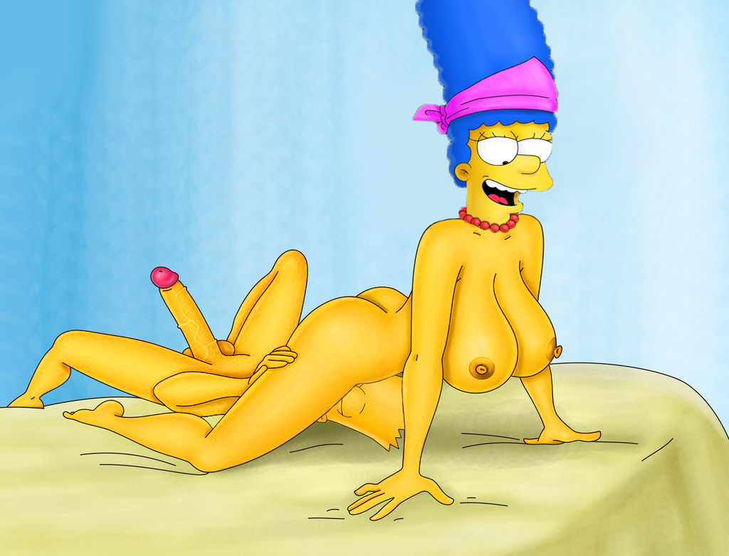 marge and  bart simpson fuck