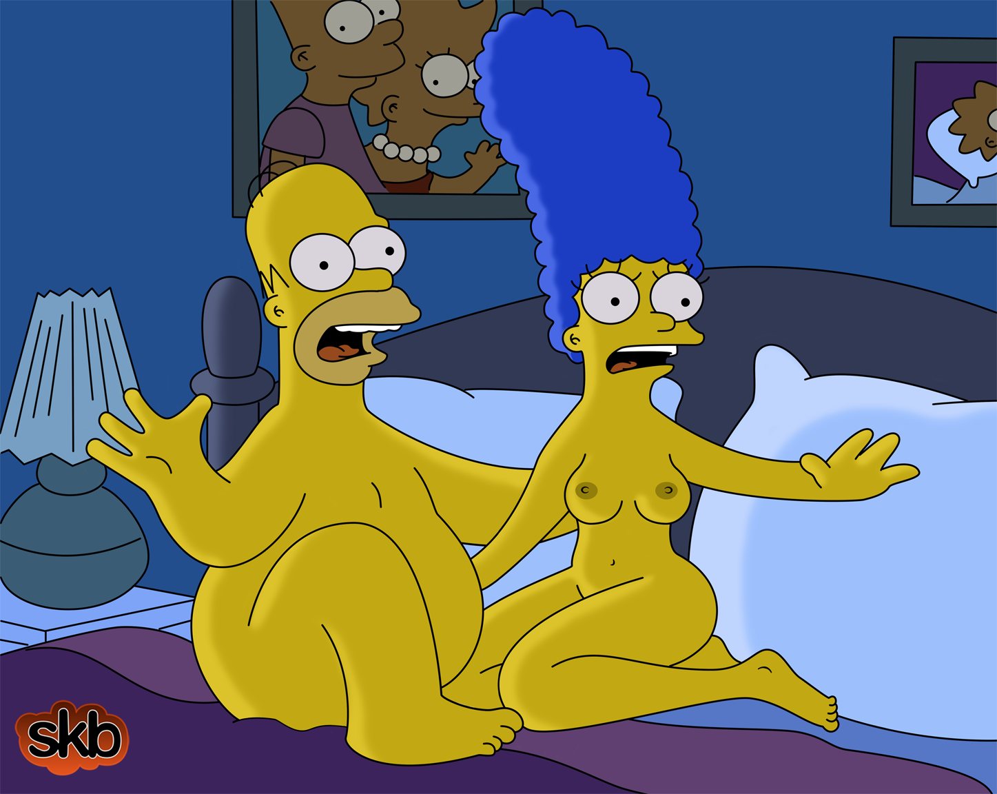 naked simpson Marge bart