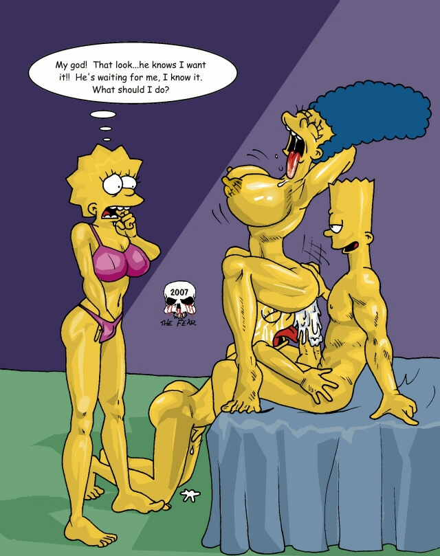 Marge Simpson Porn Simpsons Lisa Bart Fear Maggie