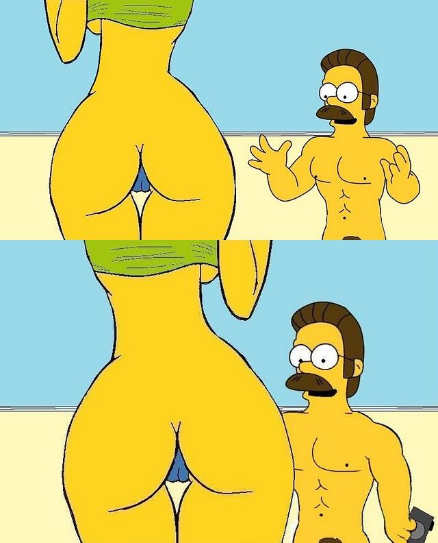 marge simpson porn simpsons marge simpson flanders ned