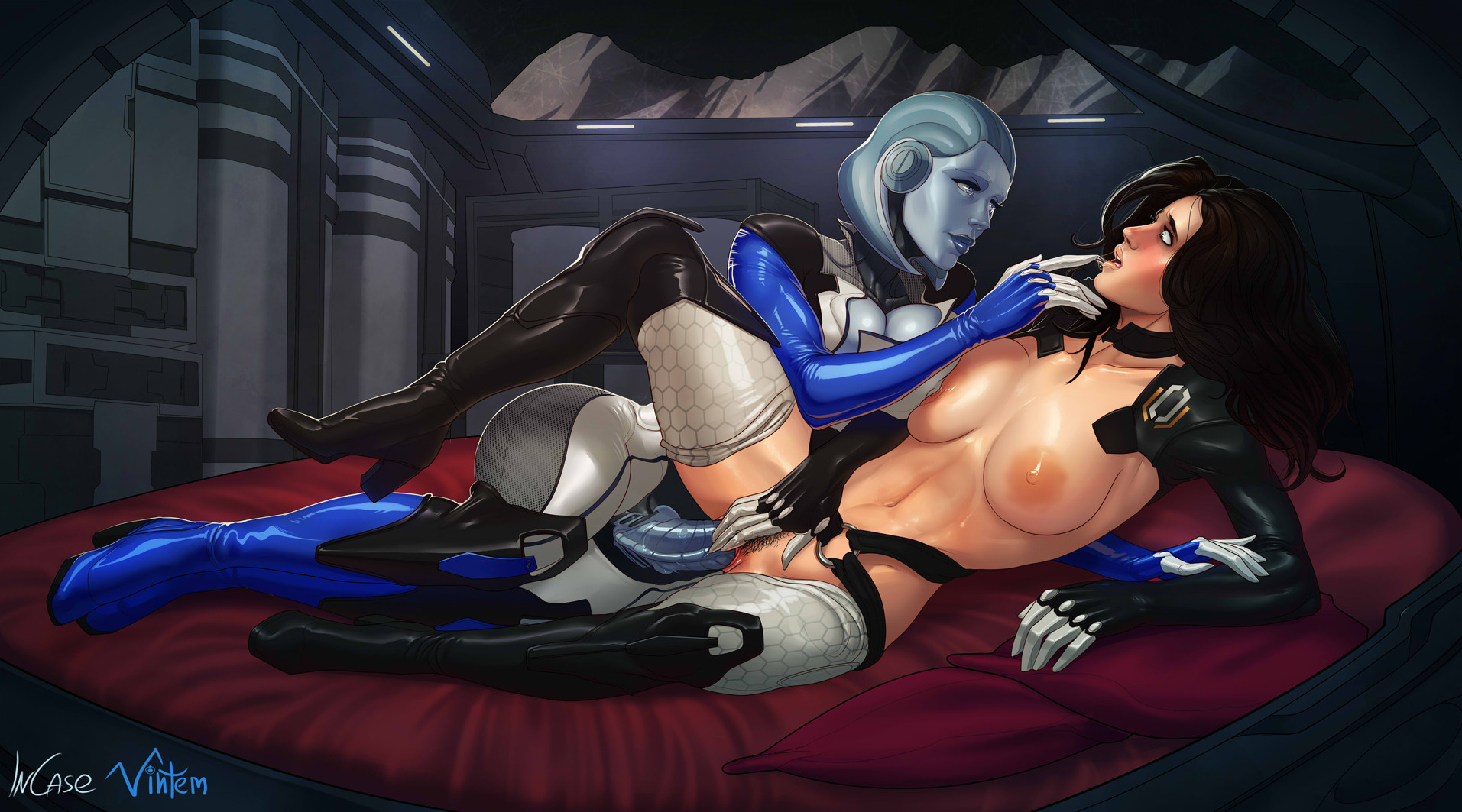Рисованное порно из mass effect