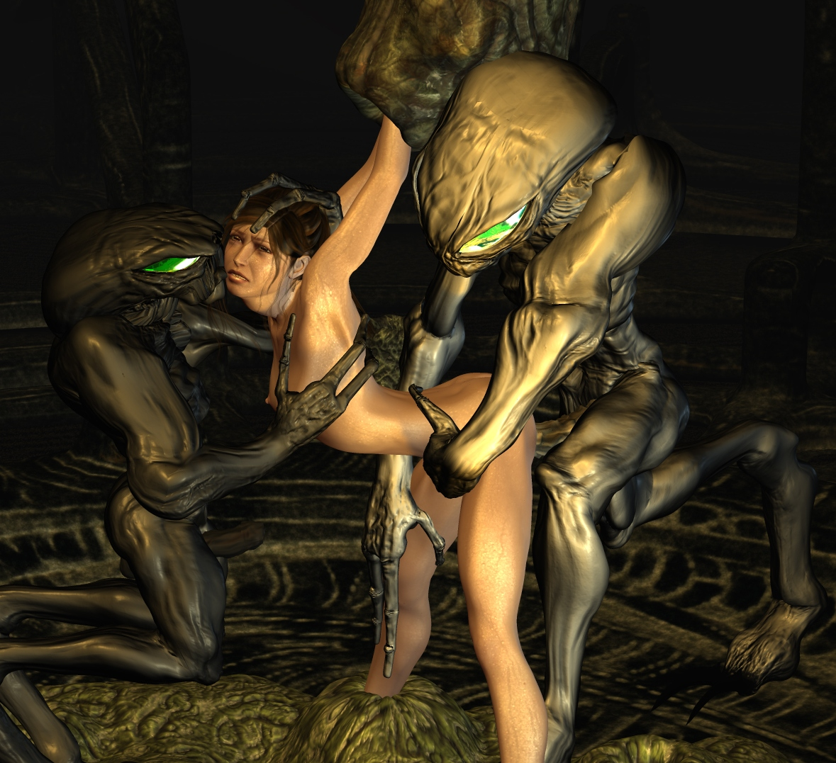 3dmonsters licking naked ass of a girl  hentia pics