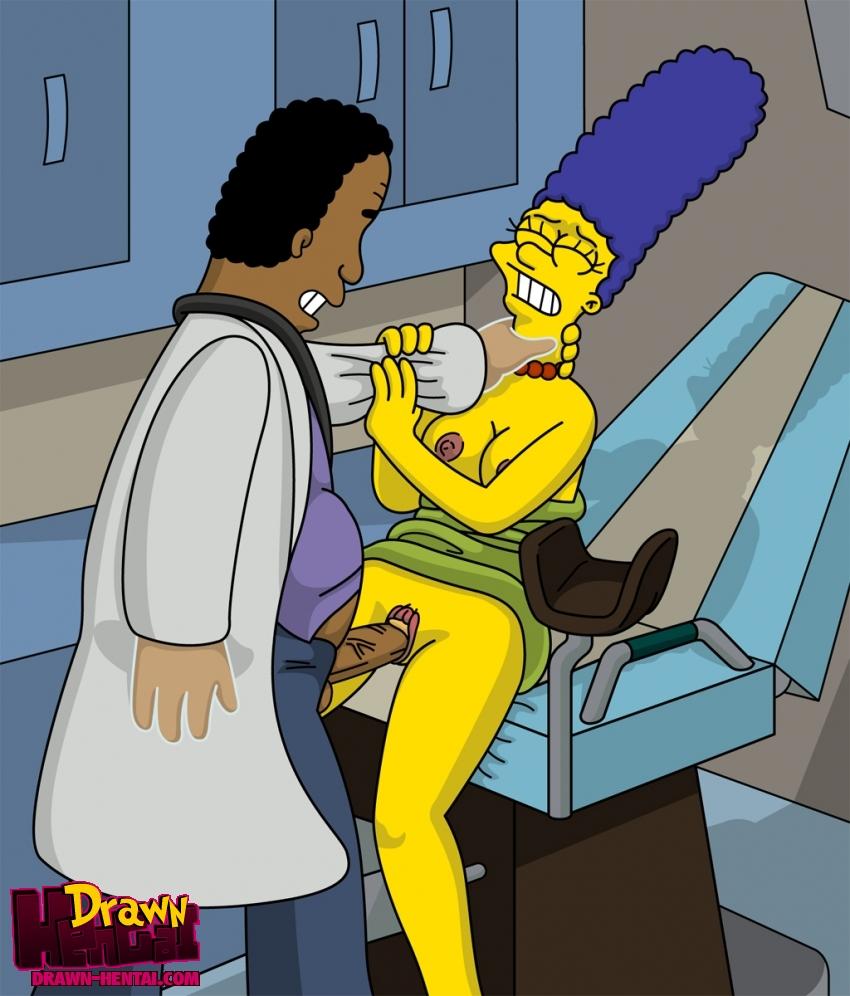Simpson Hentai Simpsons Marge Drawn Dfc Julius Hibbert