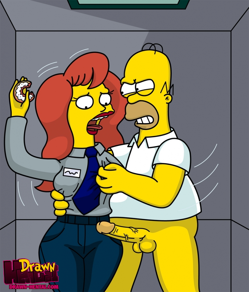 Hentai Simpsons Media Simpson Drawn Homer Mindy Simmons