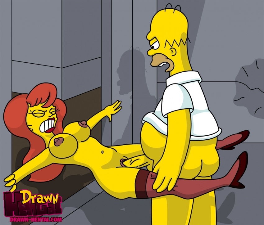 Simpsons Hentai Simpson Drawn Homer Mindy Simmons