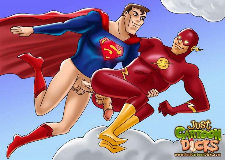 Гей порно с супер героями