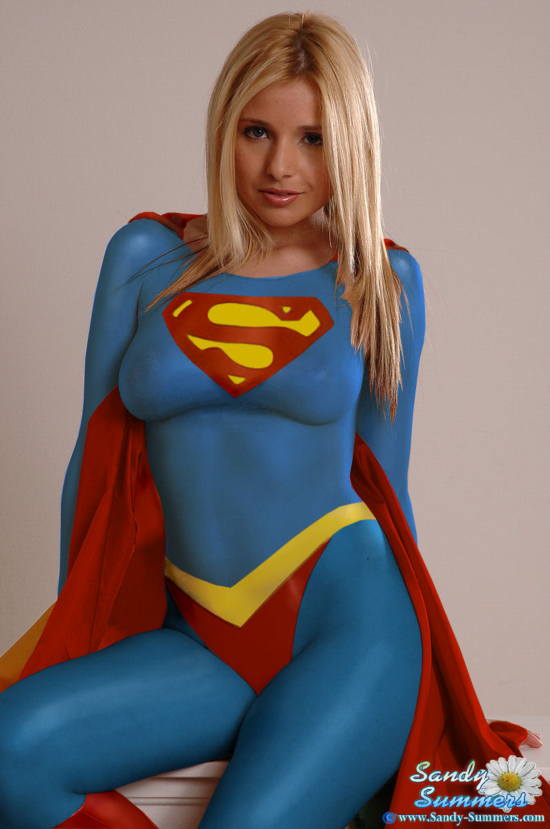 Think, Sexy supergirl body paint seems