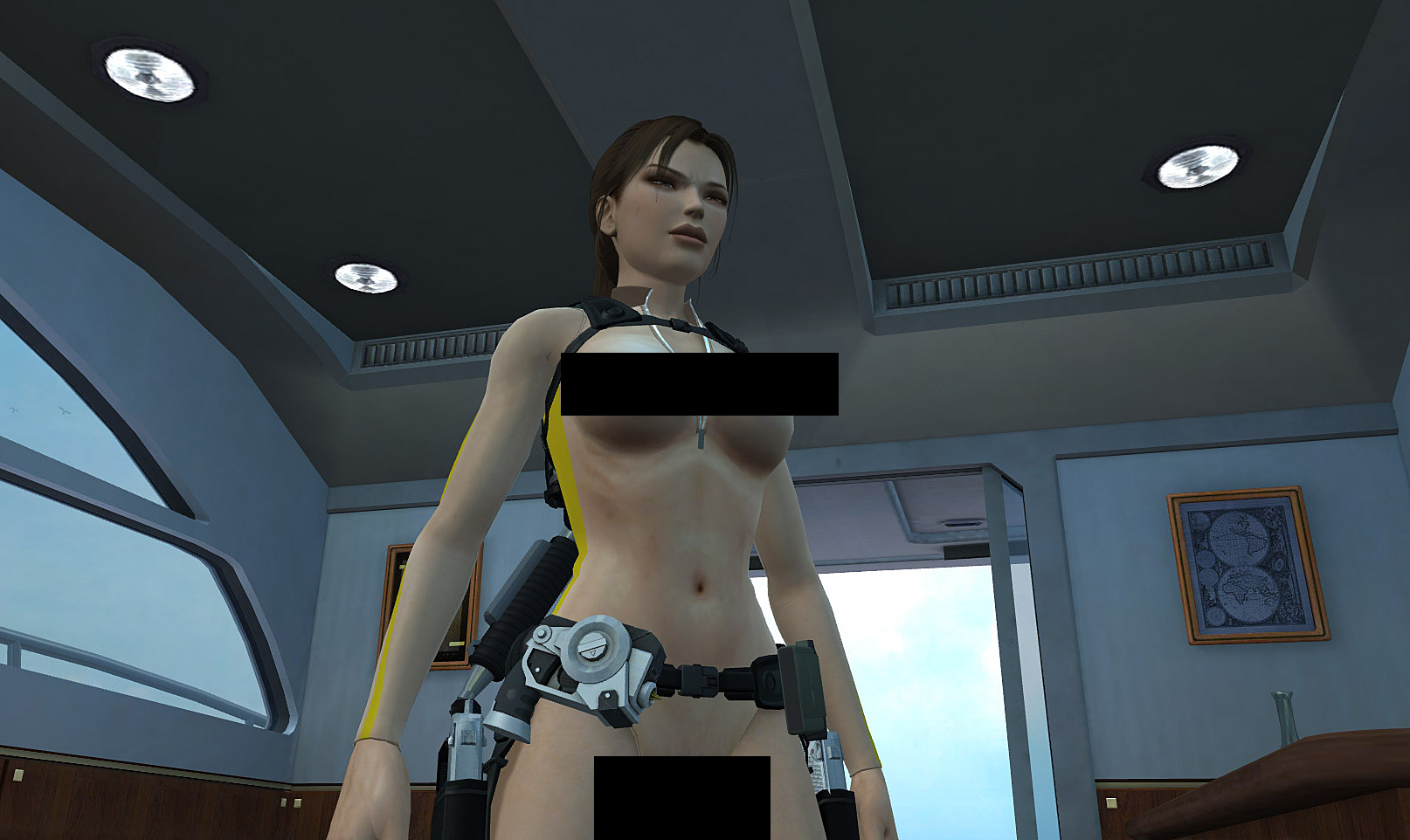 Lara croft boobs nude skin sexy videos